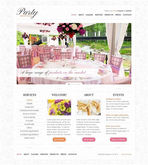 design event website event planner website template 37762