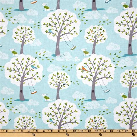 backyard baby fabric michael miller michael miller backyard baby windy day aqua discount