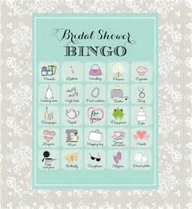 printable bridal shower bingo 40 unique game cards in robin s egg blue instant download