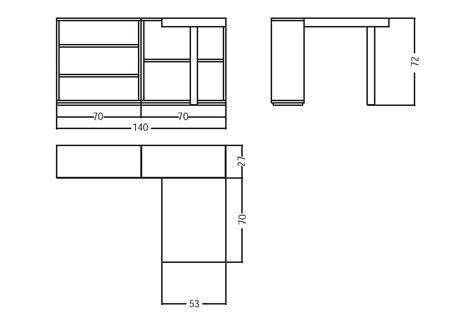 larghezza scrivania scrivania misure dimensioni larghezza cm profondit cm