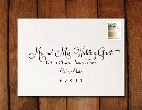 wedding address template wedding invitation calligraphy digital address formatting