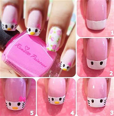 tutorial nail art hello kitty hello kitty nail art designs for teenage girls inspiring