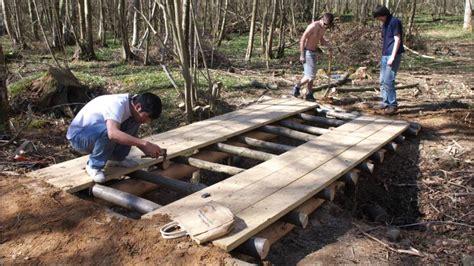 building  log bridge gopro timelapse youtube