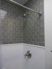 gray glass subway tile kitchen dreams