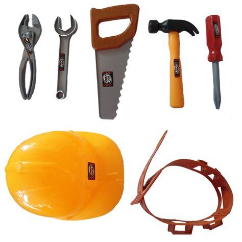 childrens boys builders fancy dress tool belt set