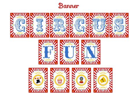 free printable circus party decorations free circus birthday party printables from printabelle
