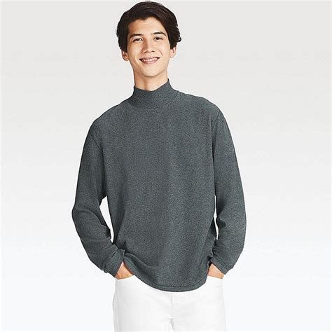 Mock Neck Sleeve T Shirt heattech fleece mock neck sleeve t shirt uniqlo us