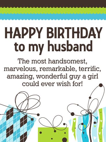 Birthday Card To My Husband Thank You For Who You Are Happy Birthday Wishes Card For