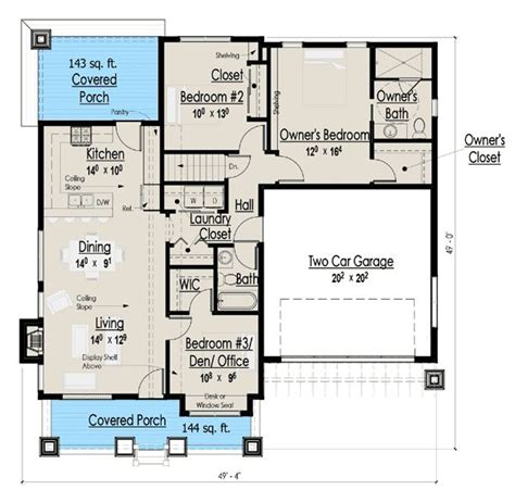 1300 sq ft floor plans plan 18267be simply simple one story bungalow craftsman house and chang e 3