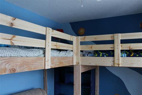 L Diy by Boys Room Makeover Diy L Shaped Loft Beds Part I