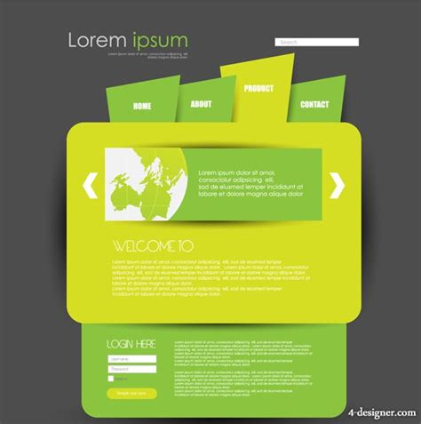 creative templates 4 designer green web design creative fashion template