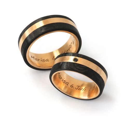 Eheringe Gold Carbon by Goldschmiede Mojo Design Trauringe Carbon Ros 233 Gold