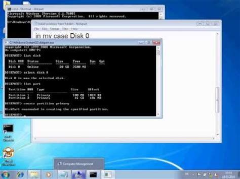 format dvd rw using command prompt creating a windows 7 setup recovery partition with clea