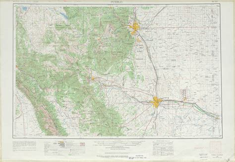 united states topography map pueblo topographic map sheet united states 1962 size