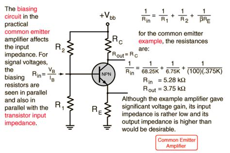 transistor lifier impedance transistor lifier impedances
