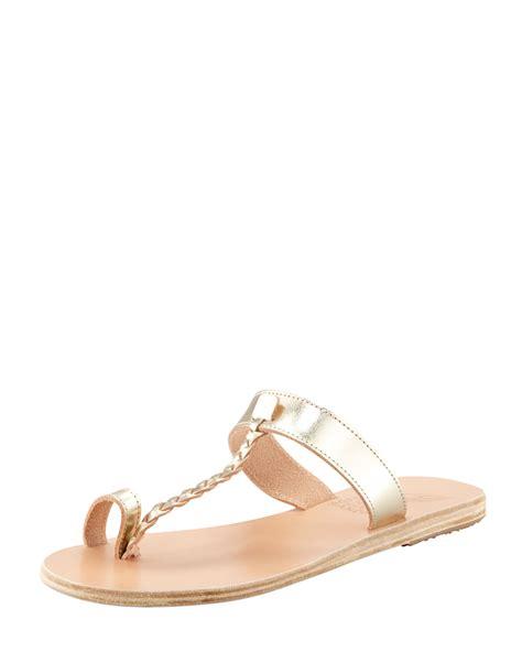toe ring sandals ancient sandals womens platinum melpomeni toe ring