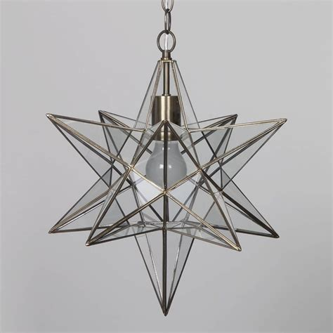hanging light chandelier nicklin star pendant ceiling light brass from litecraft