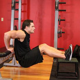 dips off bench bench dips exercise guide and video