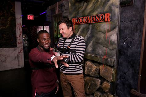 kevin hart haunted house watch kevin hart and jimmy fallon go to a haunted house