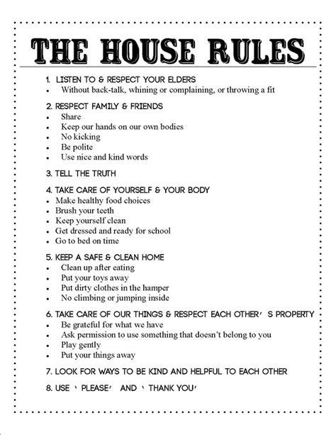 house rules the house rules kiddos pinterest its always will