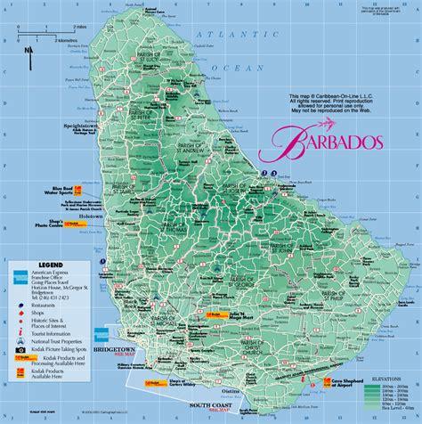 printable barbados road map barbados road map printable