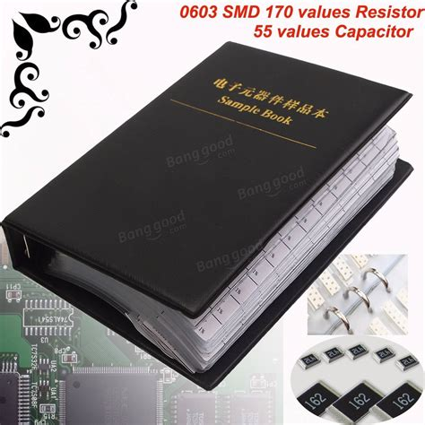 0603 resistor values 0603 smd 170 values resistor and 55 values capacitor assorted kit sle book sale banggood