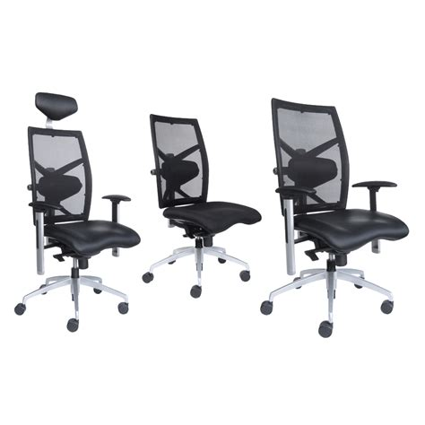 ergonomic executive leather fabric office chair