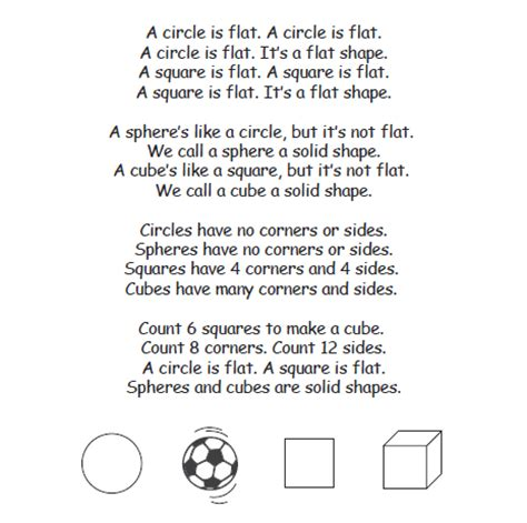 Flat And Solid Shapes Song Lyrics And Sound Clip