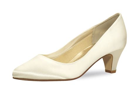 Schuhe Satin Ivory by Brautschuh Quot Megan Quot Satin Ivory