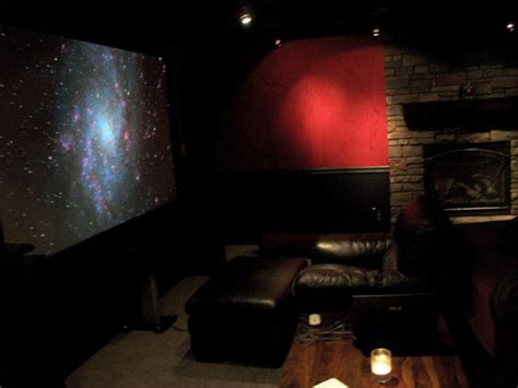 Bedroom Projector by Bedroom Theater Has Projector And 110 Inch Screen