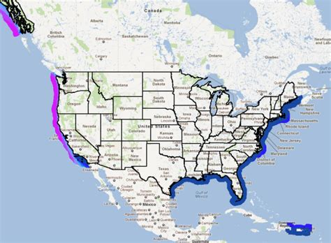 map usa with oceans u s department of energy wave and tidal energy can