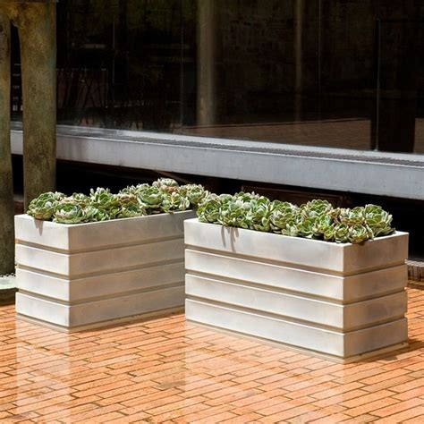Resin Outdoor Planters by Rectangle Resin Ellis Planter A092314