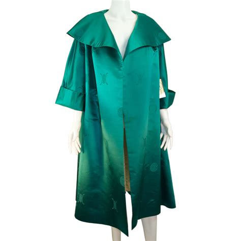 swing coat definition vtg jewel tone silk satin asian emblems swing coat for