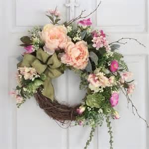 Spring Wreaths For Front Door Spring Wreaths Hydrangea Wreath Front Door Decor Seasonal