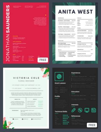 canva cv maker 4 free top resume infographic creators tech girl