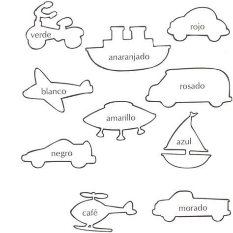 imagenes para aprender ingles dibujos para colorear colores fichas infantiles para