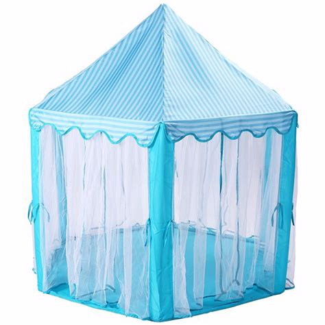 Tenda Anak tenda bermain anak model istana portable tent blue