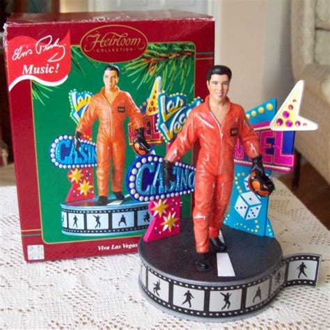 noma ornamotion battery elvis carlton viva las vegas ornament