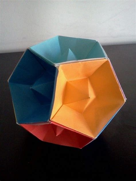 Origami Dodecahedron - 25 best ideas about modular origami on