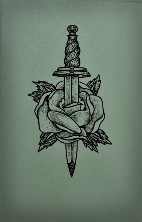 dagger and rose tattoo 53 best dagger tattoos design and ideas