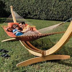 deluxe arc hammock stand patio furniture