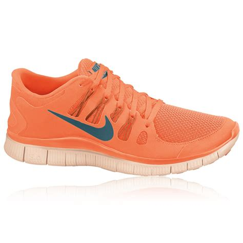 Nike free 5.0  womens orange fluorescent green running shoes