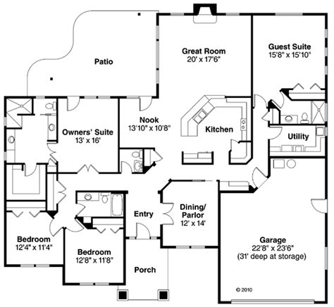 reverse ranch house plans house plan 59431 at familyhomeplans com