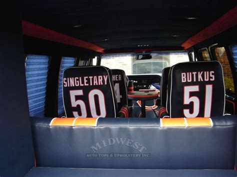car upholstery chicago midwest auto tops upholstery chicago bears van