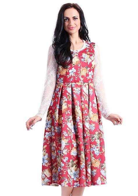 Sleeve Floral Dress floral sleeve casual dress fairyseason