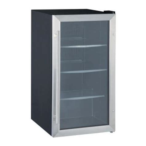 vissani 17 in wide 90 cans beverage cooler in stainless