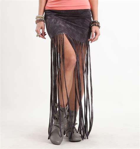 grey tie dye fringe maxi skirt pac sun my style
