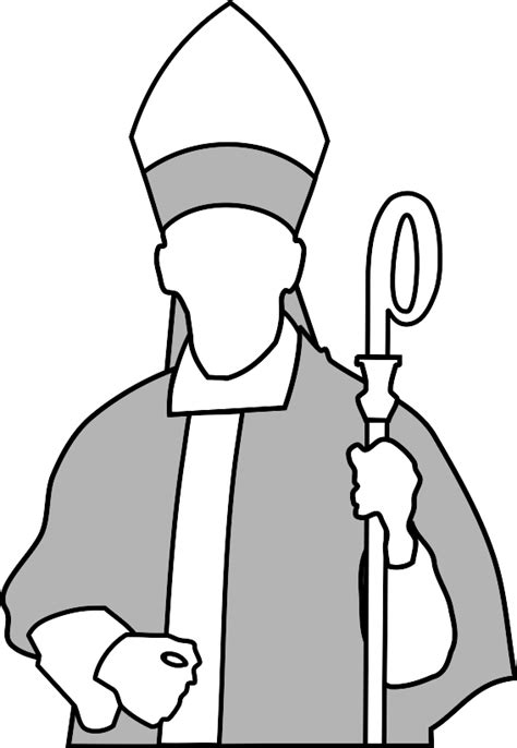 pope hat coloring page bishop 20clipart clipart panda free clipart images
