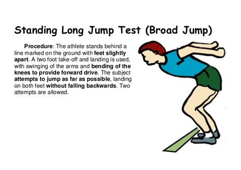 Standing Broad Jump by Fitness Assessment Tests Description For Students