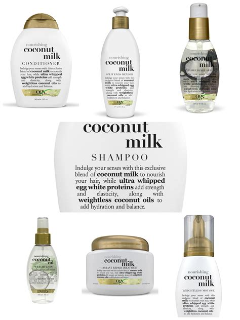 Shoo Ogx coconut milk hair products hair lust list ogx coconut milk